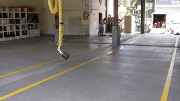 floor coating fuul flakes commercial