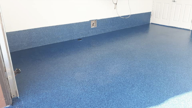 epoxy floor coating full flakes - commercial 9