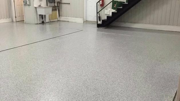 epoxy floor coating full flakes - commercial 8