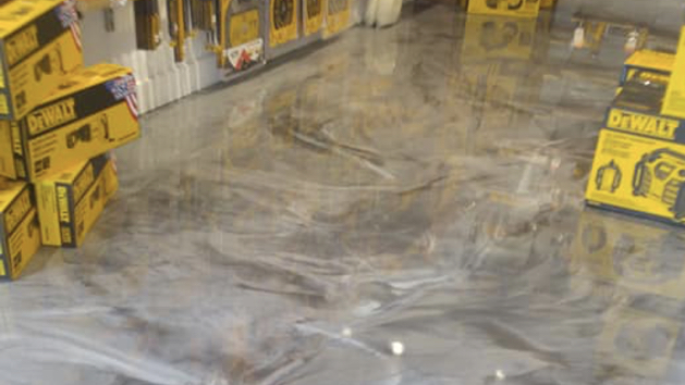 epoxy floor coating metallic - commercial 2