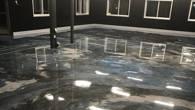 epoxy floor coating metallic - commercial