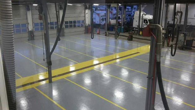 Security Lines - Diamond Coating Epoxy Flooring 6