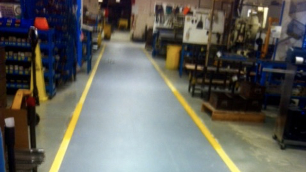 Security Lines - Diamond Coating Epoxy Flooring 5